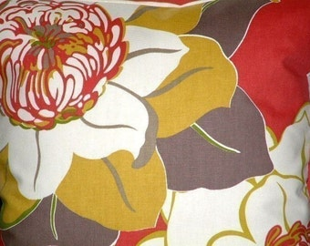 "2 16"" Contemporary Pomegranate Raspberry Green Brown Flower Designer Retro Pillowcases,Cushion Covers,Pillow Covers,Pillow,NEW FABRIC,40cms"