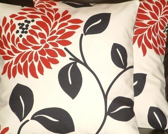 "2 16"" Modern Red Pillowcases,Cushion Covers,Pillow slips,Pillow Covers,Pillow,NEW FABRIC"