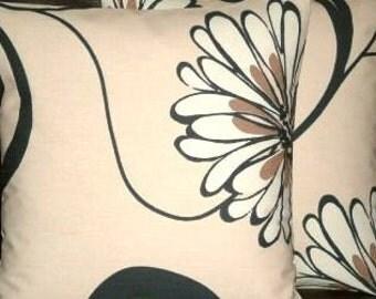 "2 16"" Modern Black Flower Print Design Funky Designer Retro Pillowcases,Cushion Covers,Pillow Covers,Pillow"