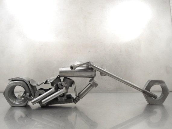 Metal Motorcycle Daddy Long Legs bike sculpture number 25