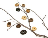 """Beach Pebbles Jewelry Beads - Chubby Stones - """"Lake Michigan Unsalted"""" Drilled Naturals by StoneMe"""