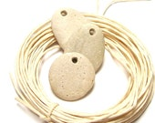 """Genuine Drilled Beach Stones - Large Michigan Pebbles - diy Jewelry Beads """"Sugar Cookies"""" by StoneMe"""