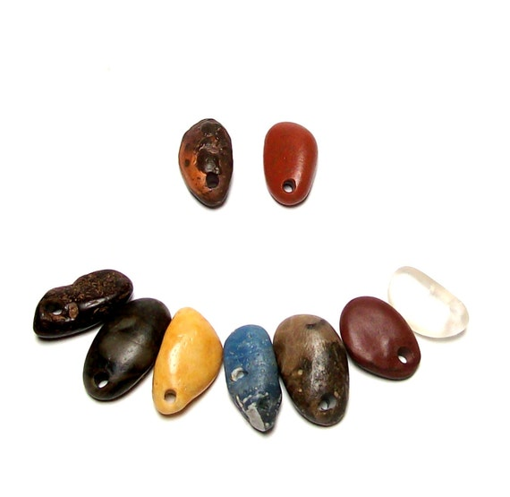 "Sea Glass Beach Pebbles Stones Petoskey Fossil Jasper Quartz Gemstones - ""Monster Teeth"" by StoneMe"
