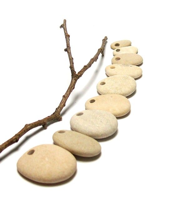 drilled beach stones pebbles strand focal jewelry by stoneme