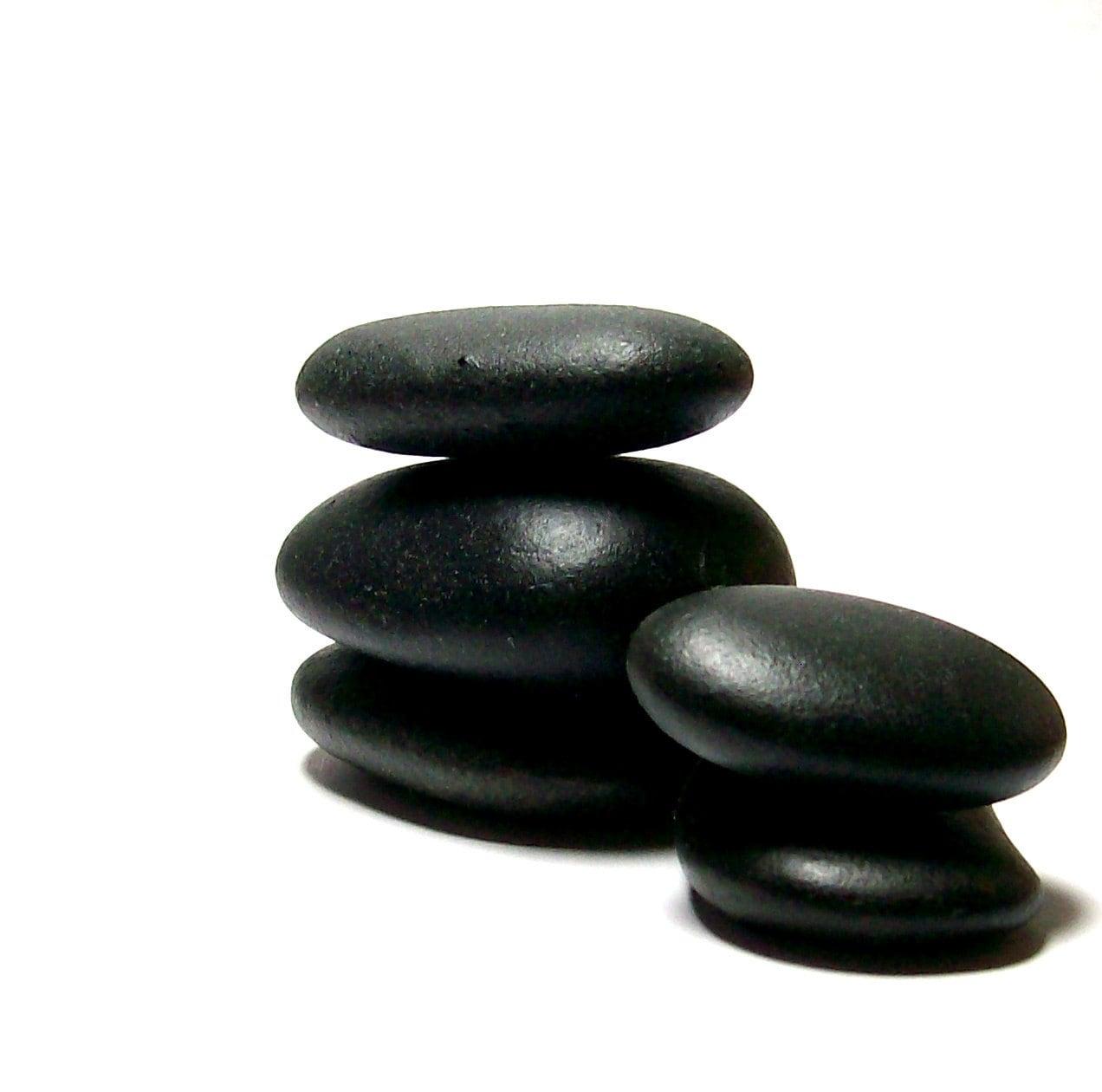 Medi spa dark zen beach stones undrilled pebbles