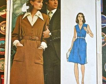 1970s Nina Ricci Womens Dress and Blouse Pattern - Paris Original  - Vogue 1050