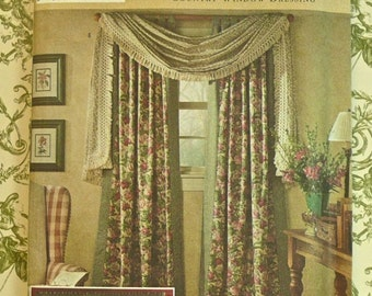 Window Treatments Pattern - Country Window Dressing - Simplicity 8052