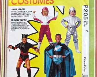 Super Hero Costume Pattern for Children - McCalls P205