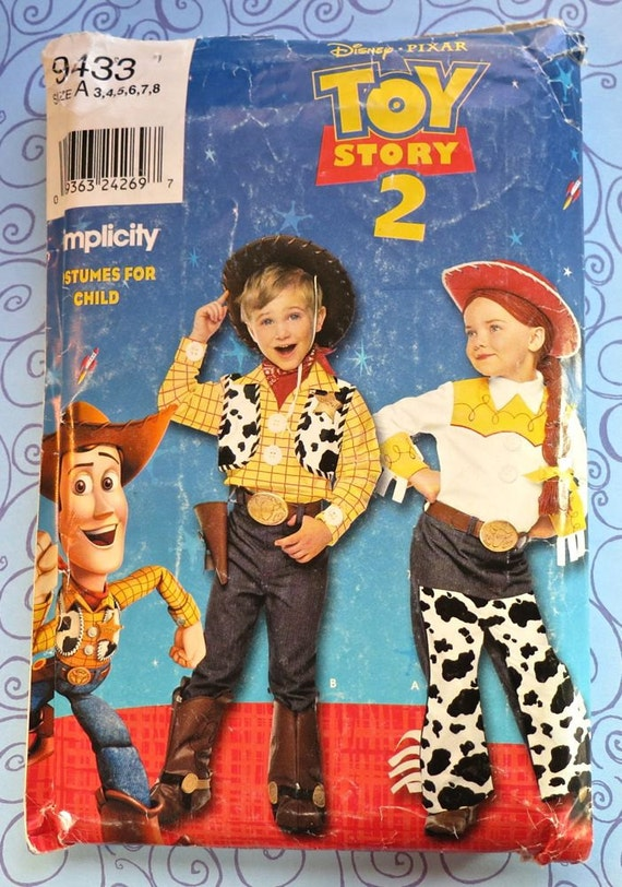 Toy Story 2 Woody and Jessie Childrens Costume Pattern - Simplicity ...