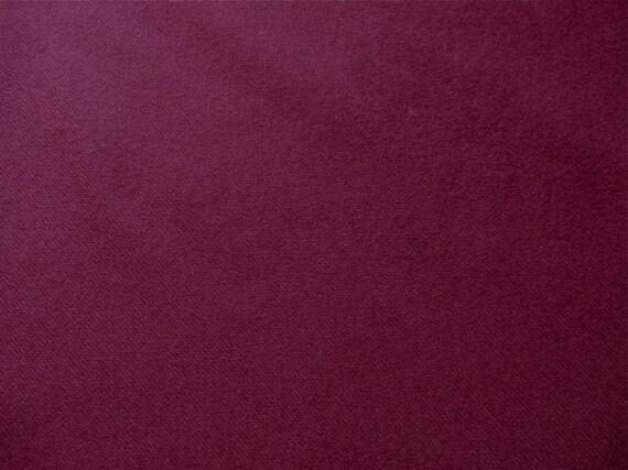 Burgundy Wool Gabardine Fabric Yardage