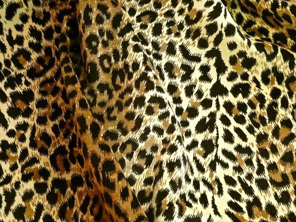 Leopard Print Upholstery Velvet Cotton Fabric