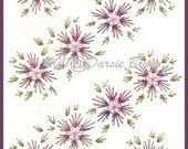 Floral Pinwheel Background Flower Embroidery Pattern for Greeting Cards