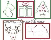 Christmas Miniatures II Paper Embroidery Pattern for Greeting Cards