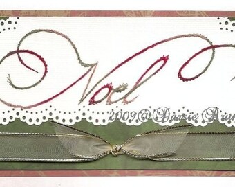 Christmas Noel Paper Embroidery Pattern for Greeting Cards