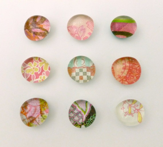 Glass Magnet Set - Brights