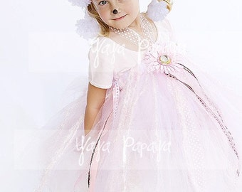 Prissy Poodle Halter Tutu Dress, Ears and Wand Set