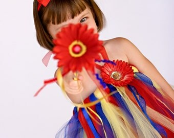 Lil' Snow White Halter Tutu Dress, Headband and Wand