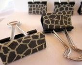 "Binder Clips - ""Le Giraffe"" 12 medium binder clips"