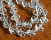 Rock Crystal Carved Clover Beads  10