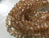 Celsian Crystal Honey Color 5mm Melon Beads  50