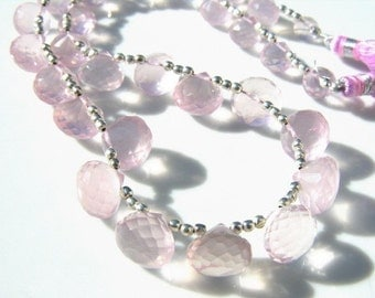 Rose Quartz Onion Briolette Pair