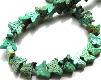 Natural Turquoise Carved Butterfly Beads  6