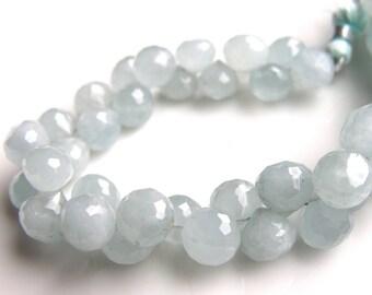 Aquarmarine Faceted Onion Beads  4