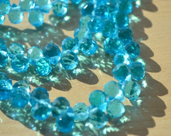 Capri Blue Faceted Crystal Beads    10