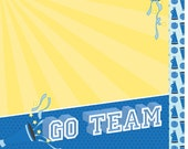 Go Team Double Sided 12 x 12 Scrapbooking Paper