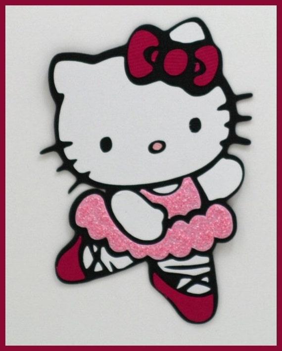 Hello kitty paper piecing embellishment ballet - Ballerine hello kitty ...
