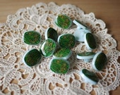Vintage - 10 Blue Tiffany Buttons