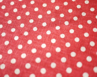 Red Polka Dot Linen (Last Piece)
