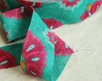 3M Japanese Bias Fabric Ribbon - Carribean Flowers
