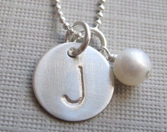 Personalized Bridesmaids Gifts - ONE INITIAL Small Charm necklace (NI001)