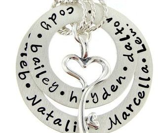 Hand Stamped Jewelry - Ultimate My Family holds a Key to My Heart  - Personalized Sterling Silver Keepsake Necklace - max 60 characters