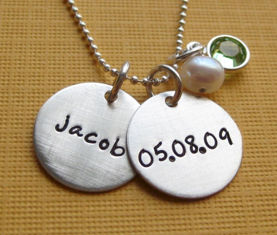 Personalized Necklace Baby's First Birthday Baby