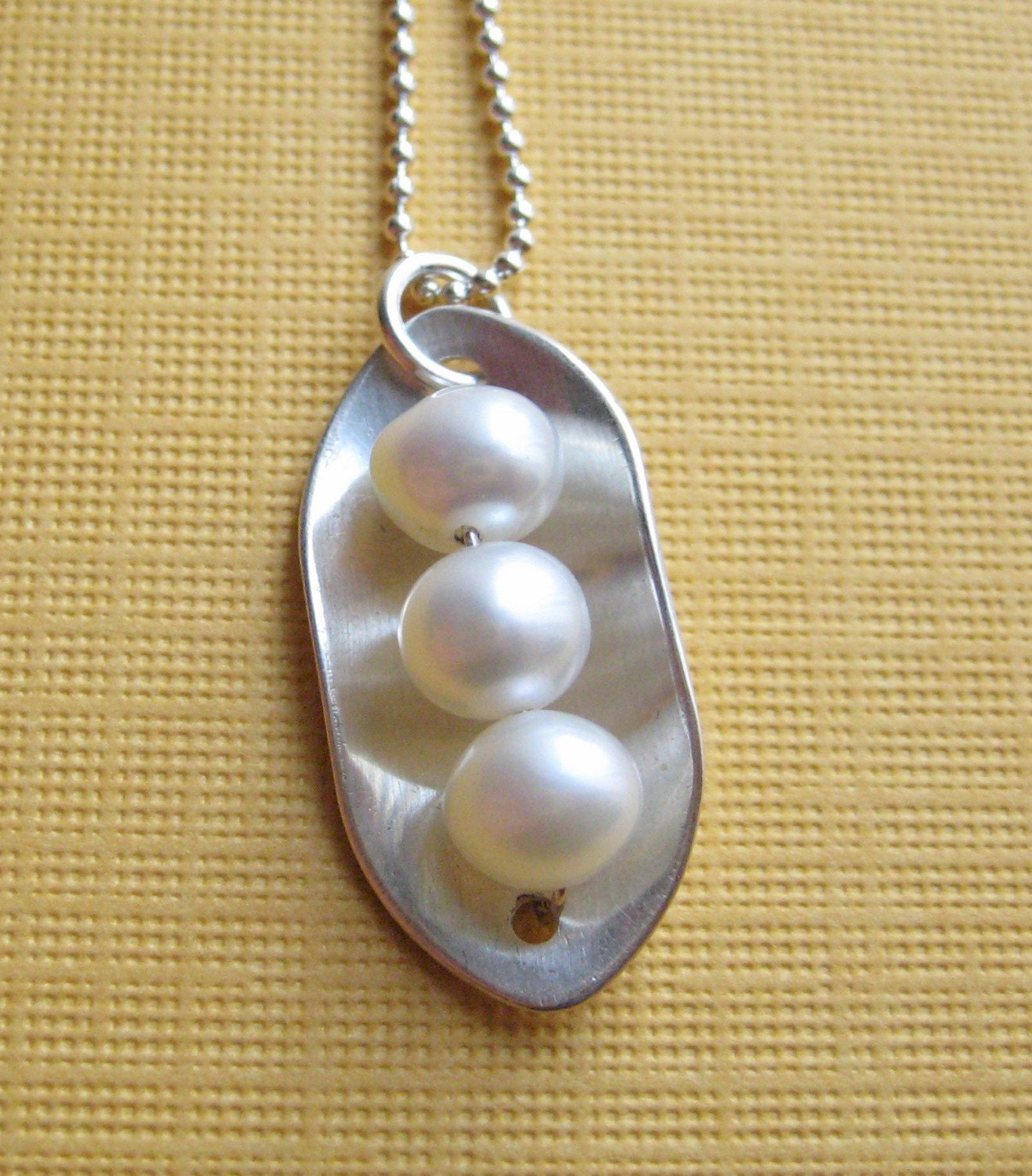 three peas in a pod necklace sterling silver by