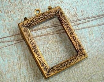 Frame pendant etsy vintage brass frame pendant aloadofball Gallery
