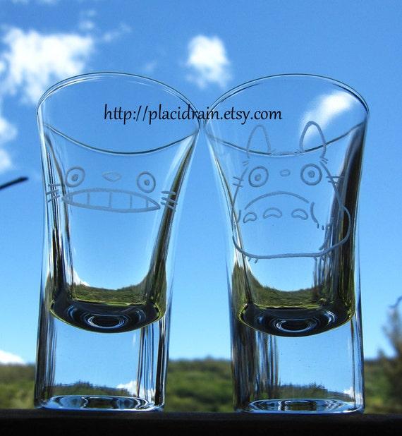 TOTORO Hand Engraved Fanart (Shot Glass Set)