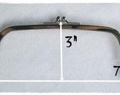 3 pcs Rectangle Clutch Frame Nickel/Silver Metal Clip Purse ( 7.5 inches ) FREE SHIPPING WORLDWIDE