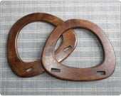 1 pairs of wooden bag handles ( Dark Brown ) supply wood For your knitting bag / sewing bag