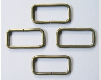 10 pcs Antique Brass Rectangle Ring Bag (1.5 inch)