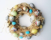 Peter Rabbit Easter Egg and Raffia Wreath