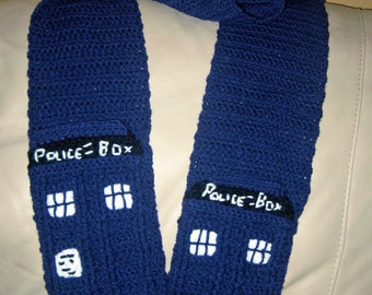 Crochet Doctor Who TARDIS Scarf