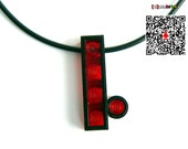 Red Dot Necklace made with Lego Parts Prototype