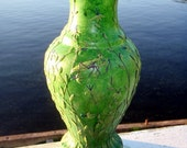 Green Recycled Glass Praying Mantis Vase