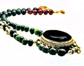 Nepalese Black and Green Onyx Ghau Box