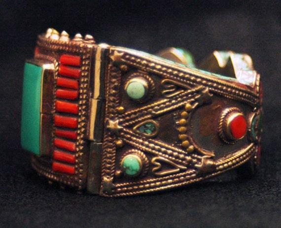 Tibetan Vintage Geometric Bracelet - Personal Collection