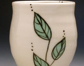 Green Leaf Porcelain Tumbler