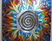 Whirlwind Handmade Mosaic Mirror